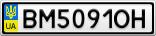 Номерной знак - BM5091OH