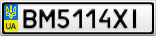 Номерной знак - BM5114XI