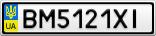 Номерной знак - BM5121XI