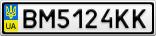Номерной знак - BM5124KK