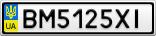 Номерной знак - BM5125XI
