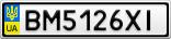 Номерной знак - BM5126XI