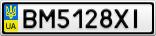 Номерной знак - BM5128XI