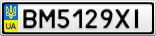Номерной знак - BM5129XI