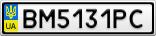 Номерной знак - BM5131PC