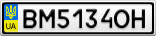 Номерной знак - BM5134OH