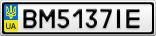 Номерной знак - BM5137IE
