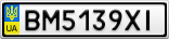 Номерной знак - BM5139XI