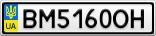 Номерной знак - BM5160OH