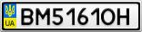 Номерной знак - BM5161OH