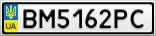 Номерной знак - BM5162PC