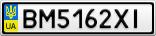 Номерной знак - BM5162XI