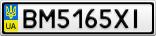 Номерной знак - BM5165XI