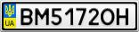 Номерной знак - BM5172OH