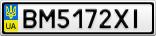 Номерной знак - BM5172XI
