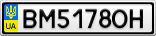 Номерной знак - BM5178OH