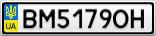 Номерной знак - BM5179OH