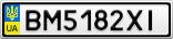 Номерной знак - BM5182XI