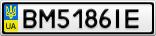 Номерной знак - BM5186IE