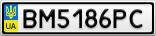 Номерной знак - BM5186PC