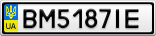 Номерной знак - BM5187IE