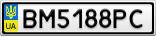 Номерной знак - BM5188PC