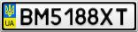 Номерной знак - BM5188XT
