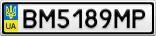 Номерной знак - BM5189MP