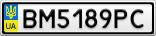 Номерной знак - BM5189PC