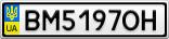 Номерной знак - BM5197OH