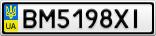 Номерной знак - BM5198XI
