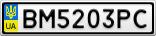 Номерной знак - BM5203PC
