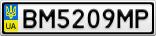 Номерной знак - BM5209MP