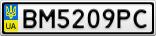 Номерной знак - BM5209PC