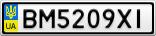 Номерной знак - BM5209XI