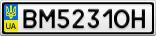 Номерной знак - BM5231OH