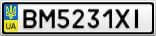 Номерной знак - BM5231XI