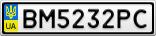 Номерной знак - BM5232PC