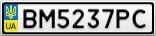 Номерной знак - BM5237PC