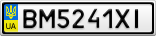 Номерной знак - BM5241XI