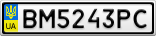 Номерной знак - BM5243PC