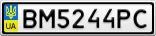 Номерной знак - BM5244PC
