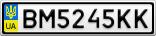 Номерной знак - BM5245KK