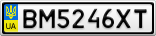 Номерной знак - BM5246XT