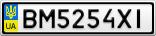 Номерной знак - BM5254XI