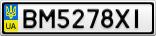 Номерной знак - BM5278XI