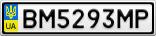 Номерной знак - BM5293MP