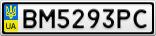 Номерной знак - BM5293PC