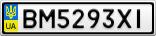 Номерной знак - BM5293XI