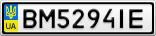 Номерной знак - BM5294IE